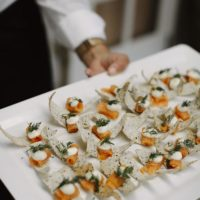 wedding catering canape menu