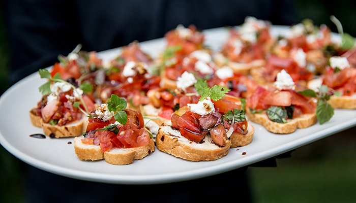 Canapes Menus for Catering Services