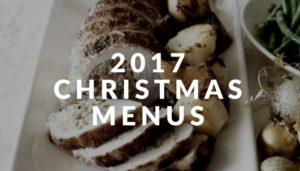 2017 christmas menus