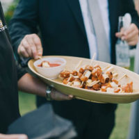 Chorizo & haloumi skewers