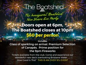 The Boat Shed – NEW Years Eve 2018