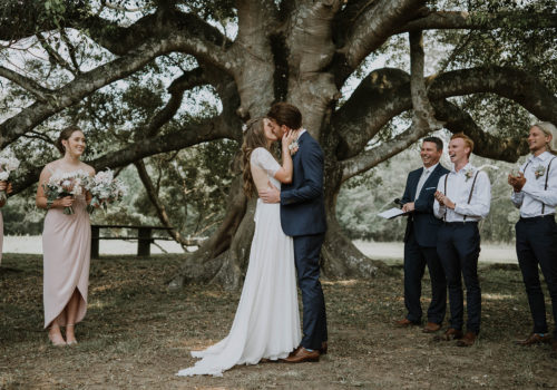 Caleb and Eleanor getting married at Fernbank Farm